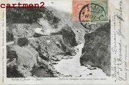 VALLEE D'AOSTE DEFILE DE MONTJOVET TRAIN DIRECT TURIN-AOSTE VAL D'AOSTA 1900 - Aosta