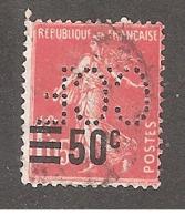 Perforé/perfin/lochung France No  225 C.C.F Crédit Commercial De France (64) - France