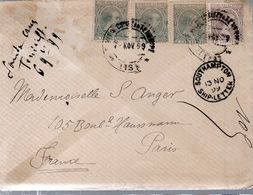 LETTRE 1899 - POSTEE A TENERIFE - CACHET POSTAL ARRIVEE A SOUTHAMPTON - - 1889-1931 Kingdom: Alphonse XIII