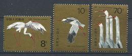 266 - CHINE 1986 - Yvert 2787/89 - Oiseau Grue Blanche - Neuf ** (MNH) Sans Trace De Charniere - 1949 - ... People's Republic