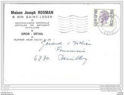 SAINT - LEGER ..-- Carte De Commande De La Quincaillerie Joseph ROSMAN . 1976 . - Saint-Léger