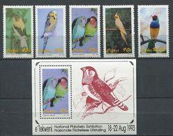 266 - CISKEI 1993 - Yvert 232/36 - Oiseau Perruche - Neuf ** (MNH) Sans Trace De Charniere - Ciskei