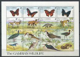 266 - GAMBIE 1999 - Yvert 999/1014 En Feuille - Papillon Oiseau Singe Gazelle .. - Neuf ** (MNH) Sans Trace De Charniere - Gambia (1965-...)