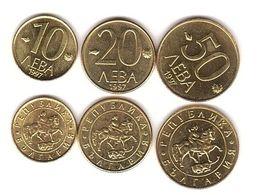 Bulgaria - Set 3 Coins 10 20 50 Leva 1997 AUNC Lemberg-Zp - Bulgaria