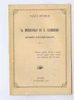 FUSCO MICHELE - IL MIRACOLO DI SAN GENNARO SPIEGATO SCIENTIFICAMENTE - NAPOLI 1908 - Oude Boeken