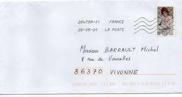 2020--tp Adhésif --Peintre  Monet.......   Seul Sur Lettre......à Saisir - Marcophilie (Lettres)