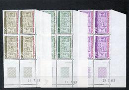 NE - Andorre - 33 - 8 Blocs De 4 Coin Daté  N° 316 à 324 - Andorra Francesa