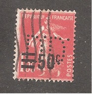 Perforé/perfin/lochung France No  225 D.D. Delphin Destombe Huileries Du Nord - France