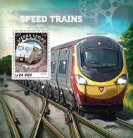 Sierra Leone, 2016. [srl16404] High-speed Trains (s\s+block) - Trains