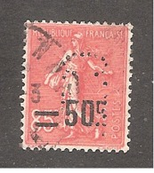 Perforé/perfin/lochung France No  221 C.L. Crédit Lyonnais (240) - France