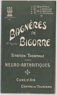 Joli Guide Illustré De Bagnères De Bigorre (65) Circa 1900 24 P Textes Photos Plans Dité Par Le SI - Dépliants Touristiques
