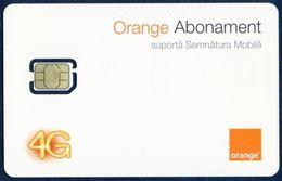 MOLDOVA - MOLDAVIA GSM (SIM) CARD ORANGE ABONAMENT 4G NANO PERFECT MINT UNUSED - Moldavia