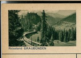 Carte Neuve Illustrée N° 182 - 0298 C ( Reiseland GRAUBÜNDEN ) Train - Railways - Stamped Stationery