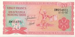 Burundi : 20 Francs 01-10-1989 : UNC - Burundi