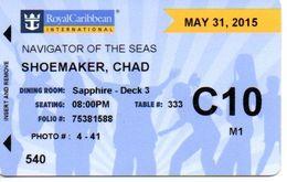 STATI UNITI KEY CABIN       ROYAL CARIBBEAN -  Navigator Of The Seas - (PN 99PRD3892) - Hotel Keycards