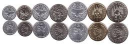 New Caledonia - Set 7 Coins 1 2 5 10 50 100 Francs 2013 UNC Lemberg-Zp - New Caledonia