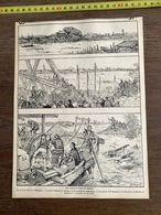 1910 JDV INONDATIONS DE TOKIO TOKYO SUMIDA MUKOJIMA PONT ADZUMA FUKAGAWA - Sammlungen