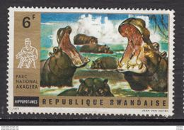Rwanda, Hippopotame, Hippopotanus - Sellos