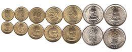 Peru - Set 7 Coins 1 5 10 20 50 Centimos 1 5 Intis 1985 - 1988 AUNC Lemberg-Zp - Pérou