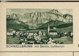 Carte Neuve Illustrée N° 182 - 0324 C ( SCHWELLBRUNN Mit Säntis, Luftkurort ) - Stamped Stationery