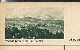 Carte Neuve Illustrée N° 182 - 0374 C ( WALD ( Appenzell) Mit Säntis ) - Stamped Stationery