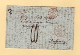 Marque D Entree - Bale 1 St Louis - Sur Lettre De Bale - 1 Fevrier 1846 - Marcofilia (sobres)
