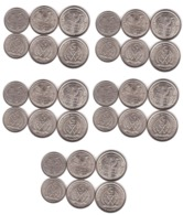 Saharawi - 5 Pcs X Set 3 Coins 1 2 5 Pesetas 1992 UNC Lemberg-Zp - Monedas