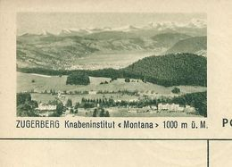 "Carte Neuve Illustrée N° 182 - 0403 C ( ZUGERBERG Knabeninstitut ""Montana"" 1000 M ü. M. ) - Stamped Stationery"