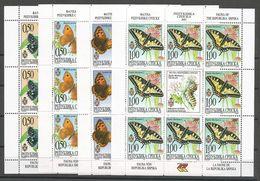 Bosnia Yugoslavia Republika Srpska Serbia Mi.202/5 All Set Without Serial Number MNH / ** 2001 Butterflies - Bosnien-Herzegowina