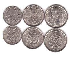 Saharawi - Set 3 Coins 1 2 5 Pesetas 1992 UNC Lemberg-Zp - Monedas