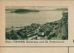Carte Neuve Illustrée N° 182 - 0183 C (Klein- TWANN Bielersee Und St. Petersinsel ) - Stamped Stationery