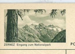 Carte Neuve Illustrée N° 182 - 0396 C ( ZERNEZ Eingang Zum Nationalpark ) - Stamped Stationery