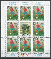 Bosnia Yugoslavia Republika Srpska Serbia Mi.229KB Sheetlet Without Serial Number MNH / ** 2001 Football - Bosnien-Herzegowina