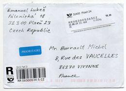 République Thèque--2019--Lettre Recommandée De PLZEN Pour La France...vignette - Covers & Documents