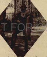 Argentina Ruralia Gaucho Playing Guitar Rosario Santa Fe Vintage Original Postcard (w6-170) - Musique Et Musiciens