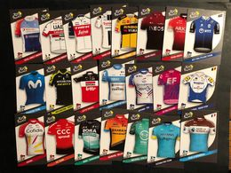 Panini Tour De France 2020 - 22 Cards Shirts Van Teams Complete - Cyclists - Cyclisme - Ciclismo -wielrennen - Cycling