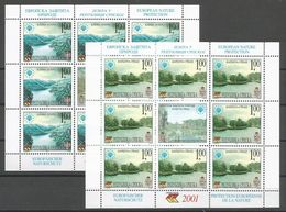 Bosnia Yugoslavia Republika Srpska Serbia Mi.222/23 In Minisheets Without Serial Number MNH / ** 2001 Europa Nature - Bosnien-Herzegowina