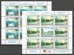 Bosnia Yugoslavia Republika Srpska Serbia Mi.222/23 In Minisheets Without Serial Number MNH / ** 2001 Europa Nature - Europese Gedachte
