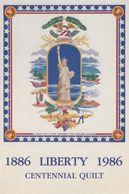 New York City , 1986 ; Statue Of Liberty Quilt - Statue De La Liberté