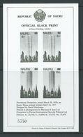 Nauru 1978 Provisional Surcharge Set Of 4 Black Print Imperforate Sheet MNH - Nauru
