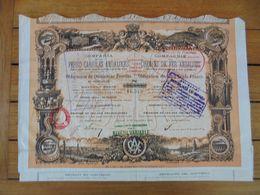ESPAGNE - MADRID 1890 - CIE DES CHEMIN DE FER ANDALOUS - OBLIGATIONS DE 500 FRS - Acciones & Títulos