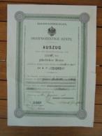 ALLEMAGNE - STRASBOURG 1886 - TITRE DE 3 MARK , DIFFERENT DU PRECEDENT,  VOIR SCAN - Hist. Wertpapiere - Nonvaleurs