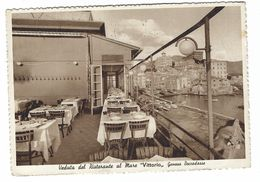 CLA482 - GENOVA BOCCADASSE VEDUTA DEL RISTORANTE AL MARE VITTORIO 1951 - Genova (Genoa)