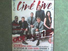 Ciné Live George Clooney Catherine Zeta-Jones Matt Damon Brad PittAndy Garcia Cheadle + Cd+ Affiche - Cinema