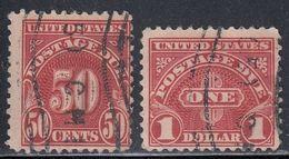 United States, Scott #J76-J77, Used, Postage Due, Issued 1930 - Postage Due