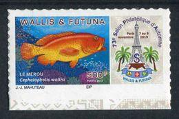 "TIMBRE Adhésif ** De 2019 En Bord De Feuille De WALLIS ET FUTUNA ""73e SALON PHILATELIQUE D'AUTOMNE - LE MEROU"" - Wallis Y Futuna"