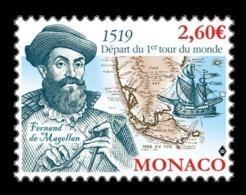Monaco 2019 Mih. 3468 First World Circumnavigation Of Magellan. Ships MNH ** - Neufs