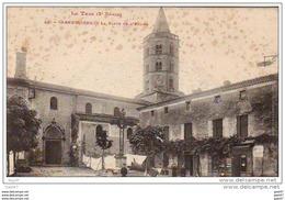 """Cpa    (  Dep  81 )  à   LABRUGUIERE   """"   La Place De L'Eglise  """" - Labruguière"""