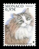 Monaco 2020 Mih. 3498 Fauna. International Cat Show. Siberian Cat MNH ** - Monaco