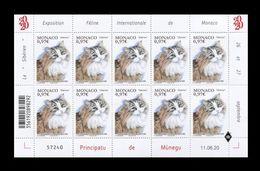 Monaco 2020 Mih. 3498 Fauna. International Cat Show. Siberian Cat (M/S) MNH ** - Monaco